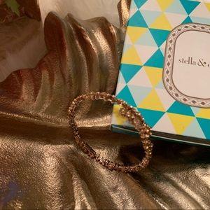 Stella & Dot Hera Coil Sparkly Bracelet